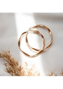 Серьги-кольца с витой отделкой