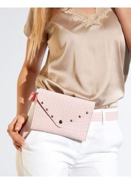 Сумка-кошелёк на пояс с отделкой заклёпками
