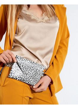 Сумка-кошелёк с леопардовым принтом