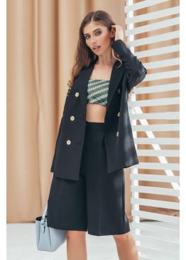 Шикарный костюм пиджак+шорты, черный