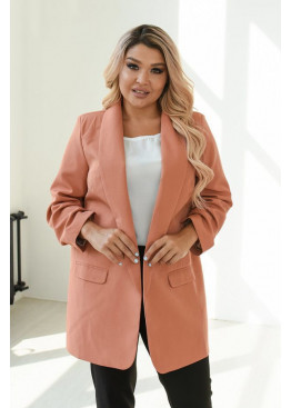 Классический женский пиджак прямого силуэта, Карамель