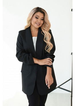 Классический женский пиджак прямого силуэта, черный