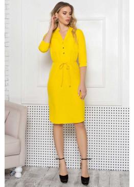 Элегантное платье прямого кроя А-308, желтый