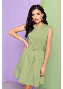 Платье L-403 А-силуэта, зеленый