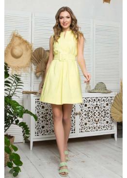 Платье L-403 А-силуэта, желтый