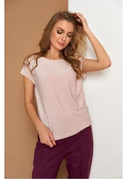 Утонченная блуза мягкого пастельного оттенка с открытой спиной