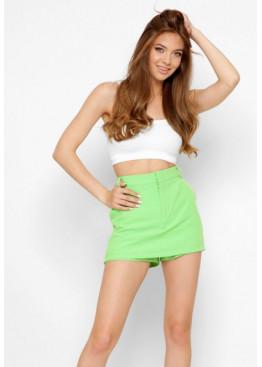 Дизайнерские шорты-юбка, салатовые