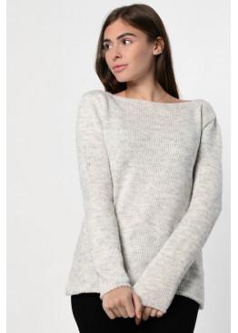 Трикотажный свитер свободного кроя
