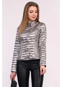 Короткая куртка из стеганой плащевой ткани