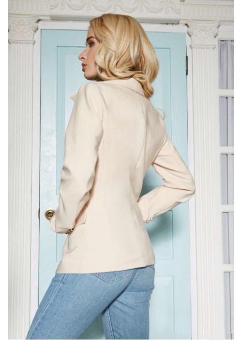 Оригинальный пиджак в стиле Balmain, бежевый