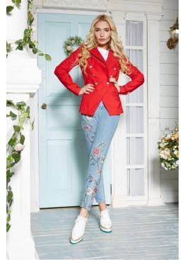 Оригинальный пиджак в стиле Balmain, красный