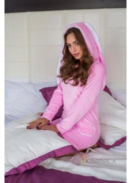 Уютное яркое платье Зайка, розовый