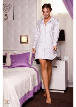 Пижама-рубашка с нежным цветочным принтом