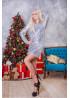 Роскошное коктейльное платье мини в пайетки-хамелеон серебристого цвета