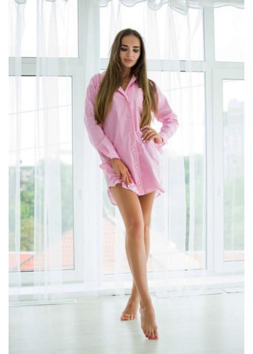 """Пижама-рубашка с принтом """"клетка"""""""