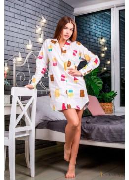 """Пижама-рубашка с принтом """"мороженко"""""""