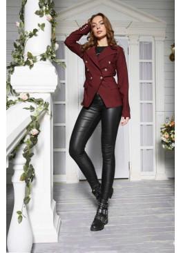 Оригинальный пиджак в стиле Balmain, бордо
