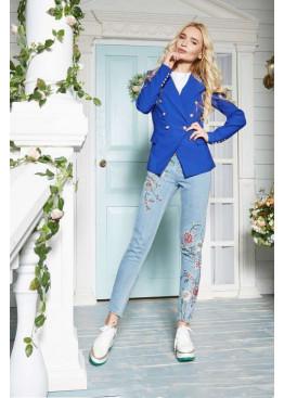 Оригинальный пиджак в стиле Balmain, синий