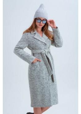 Осенняя женская шапка «Атланта», плетение в полоску, серая