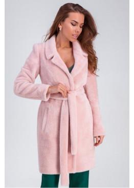 Приталенная шубка «Веро», розовая