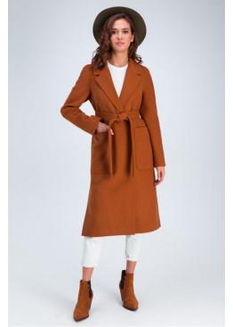 Пальто с накладными карманами «Дельфина» из  кашемира