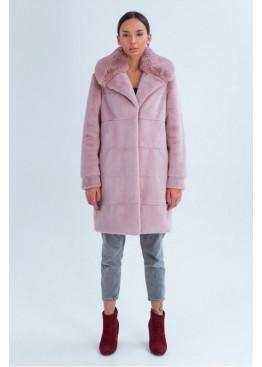 Зимняя эко шуба «Винтер», розовая