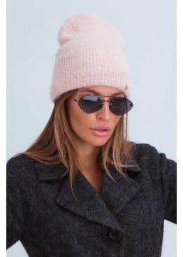Шерстяная шапка «Рино» из мелкой вязки