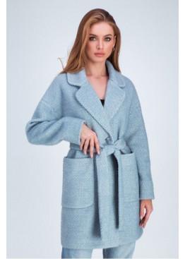 Весеннее пальто «Дева» из шерстяной ткани