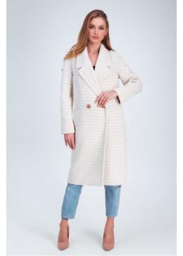 Пальто с орнаментом в елочку «Инди»