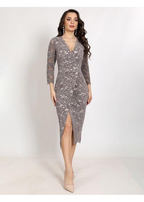 Платье вечернее из нежного бархатного гипюра