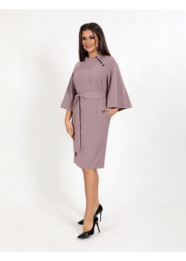 Платье деловое с декоративными пуговицами