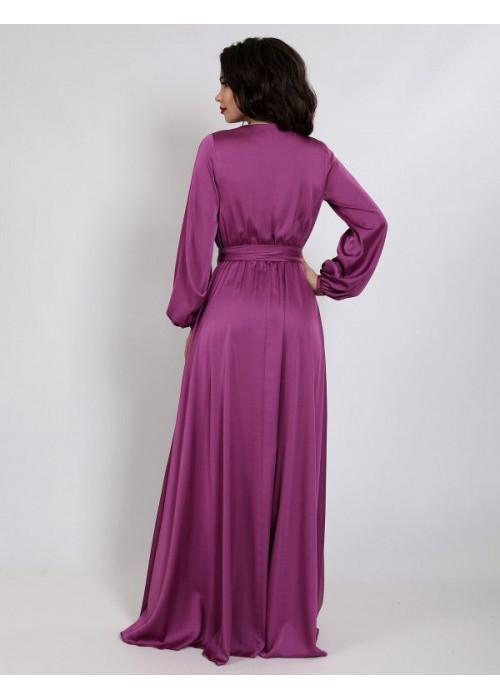 Платье вечернее из легкого струящего шёлка