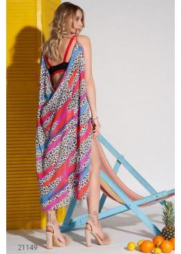 Пляжная накидка с леопардовым принтом, черно-белый