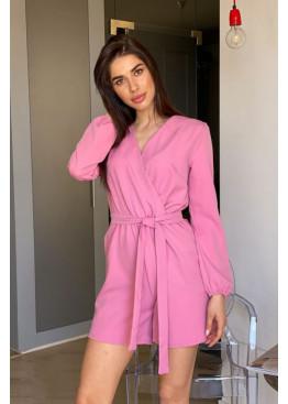 Комбинезон летний с длинным рукавом, розовый