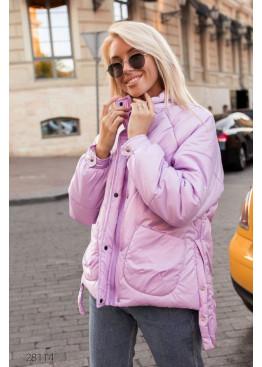 Дутая стёганная куртка,  розовый