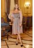 Розовое платье мини с накидкой из сетки