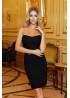Платье-бандо мини, черное