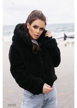 Двусторонняя куртка с капюшоном, черный