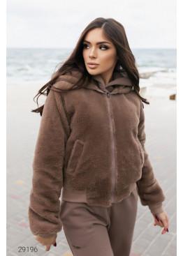 Двусторонняя куртка с капюшоном, коричневый