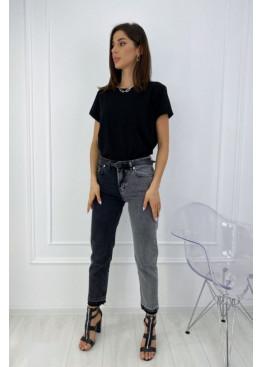 Двухцветные джинсы в винтажном стиле