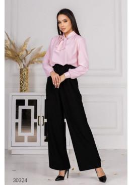 Костюм из блузы с принтом в горох и брюк, розовый