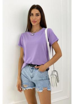 Базовая футболка oversize сиреневого цвета