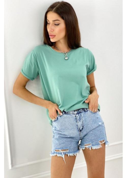 Базовая футболка oversize мятного цвета