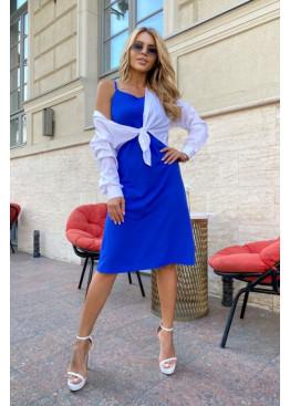 Комплект из платья-комбинации и рубашки, электрик