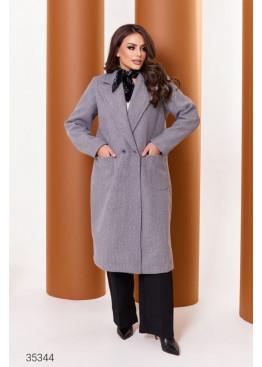 Кашемировое пальто прямого кроя, серый
