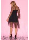 Фактурное платье мини с принтом в горох