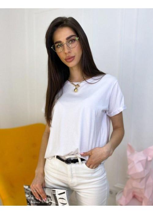 Базовая футболка oversize белого цвета