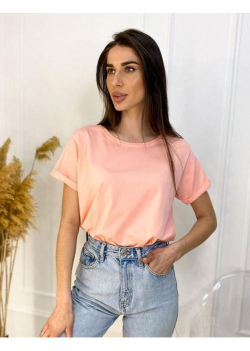 Базовая футболка oversize персикового цвета