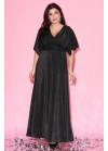 Платье макси с рукавами-кимоно чёрного цвета
