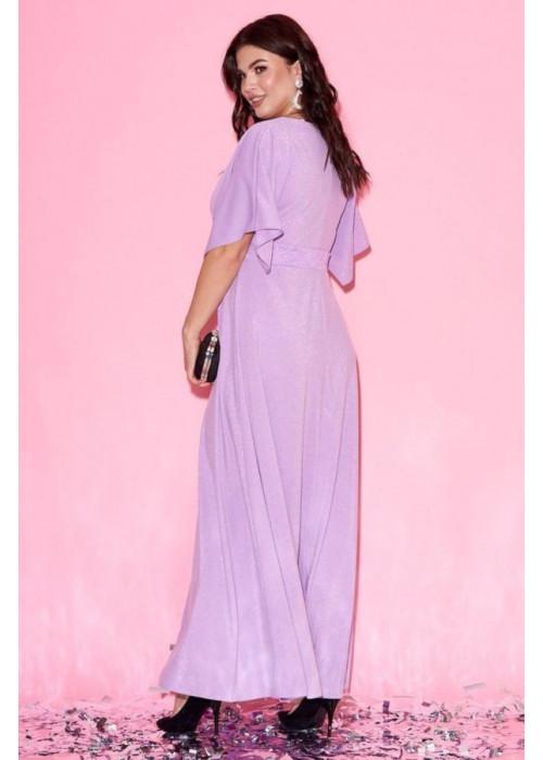 Платье макси с рукавами-кимоно сиреневого цвета